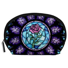 Cathedral Rosette Stained Glass Beauty And The Beast Accessory Pouches (Large)