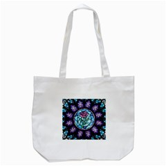 Cathedral Rosette Stained Glass Beauty And The Beast Tote Bag (White)