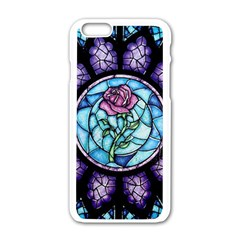 Cathedral Rosette Stained Glass Beauty And The Beast Apple iPhone 6/6S White Enamel Case