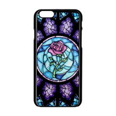 Cathedral Rosette Stained Glass Beauty And The Beast Apple iPhone 6/6S Black Enamel Case