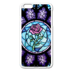 Cathedral Rosette Stained Glass Beauty And The Beast Apple iPhone 6 Plus/6S Plus Enamel White Case