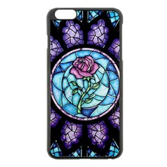 Cathedral Rosette Stained Glass Beauty And The Beast Apple iPhone 6 Plus/6S Plus Black Enamel Case