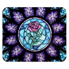 Cathedral Rosette Stained Glass Beauty And The Beast Double Sided Flano Blanket (Small)