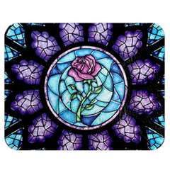 Cathedral Rosette Stained Glass Beauty And The Beast Double Sided Flano Blanket (Medium)