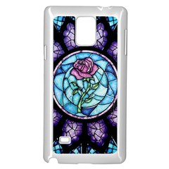 Cathedral Rosette Stained Glass Beauty And The Beast Samsung Galaxy Note 4 Case (White)