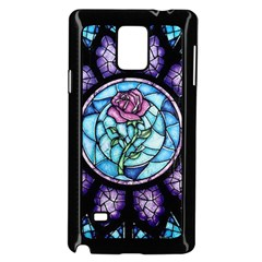 Cathedral Rosette Stained Glass Beauty And The Beast Samsung Galaxy Note 4 Case (Black)