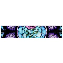 Cathedral Rosette Stained Glass Beauty And The Beast Flano Scarf (Small)