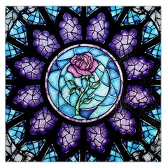 Cathedral Rosette Stained Glass Beauty And The Beast Large Satin Scarf (Square)