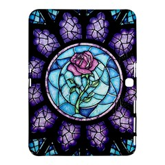 Cathedral Rosette Stained Glass Beauty And The Beast Samsung Galaxy Tab 4 (10.1 ) Hardshell Case