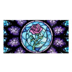 Cathedral Rosette Stained Glass Beauty And The Beast Satin Shawl