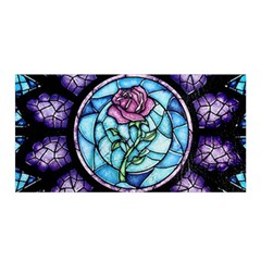 Cathedral Rosette Stained Glass Beauty And The Beast Satin Wrap