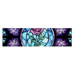 Cathedral Rosette Stained Glass Beauty And The Beast Satin Scarf (Oblong)