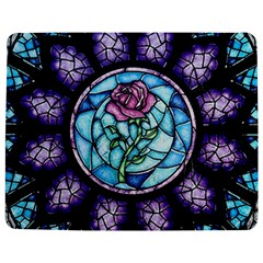 Cathedral Rosette Stained Glass Beauty And The Beast Jigsaw Puzzle Photo Stand (Rectangular)