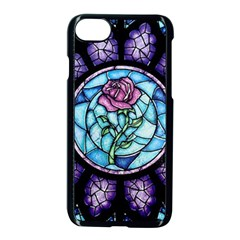 Cathedral Rosette Stained Glass Beauty And The Beast Apple iPhone 7 Seamless Case (Black)