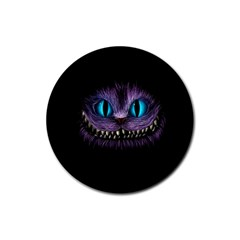 Cheshire Cat Animation Rubber Round Coaster (4 Pack)