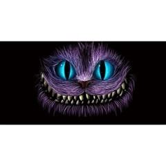 Cheshire Cat Animation You Are Invited 3d Greeting Card (8x4)