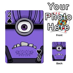 Evil Purple Playing Cards 54 Designs