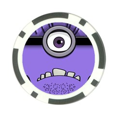 Evil Purple Poker Chip Card Guards