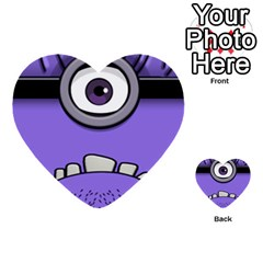 Evil Purple Multi Purpose Cards (heart)