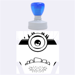 Evil Purple Rubber Round Stamps (large)