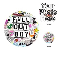 Fall Out Boy Lyric Art Playing Cards 54 (round)