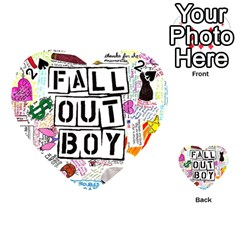 Fall Out Boy Lyric Art Playing Cards 54 (Heart)