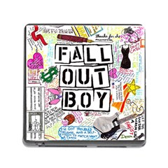 Fall Out Boy Lyric Art Memory Card Reader (square)