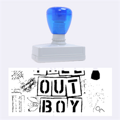 Fall Out Boy Lyric Art Rubber Stamps (large)