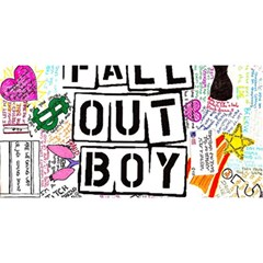 Fall Out Boy Lyric Art YOU ARE INVITED 3D Greeting Card (8x4)