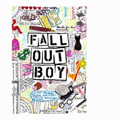 Fall Out Boy Lyric Art Small Garden Flag (two Sides)