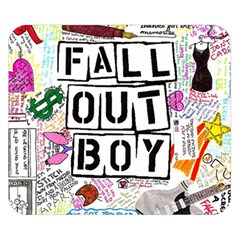 Fall Out Boy Lyric Art Double Sided Flano Blanket (small)