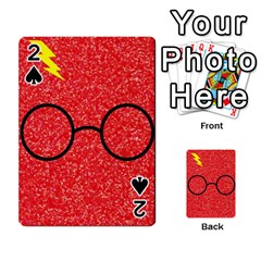 Glasses And Lightning Glitter Playing Cards 54 Designs