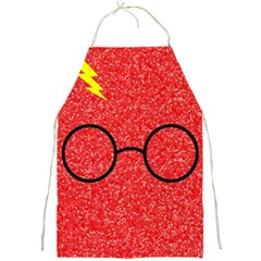 Glasses And Lightning Glitter Full Print Aprons