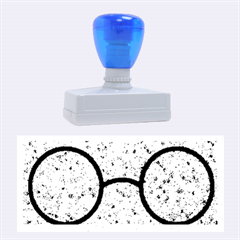 Glasses And Lightning Glitter Rubber Stamps (large)