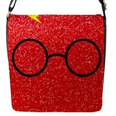 Glasses And Lightning Glitter Flap Messenger Bag (s)