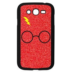 Glasses And Lightning Glitter Samsung Galaxy Grand Duos I9082 Case (black)