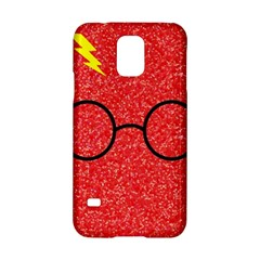 Glasses And Lightning Glitter Samsung Galaxy S5 Hardshell Case