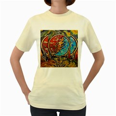 Grateful Dead Rock Band Women s Yellow T Shirt