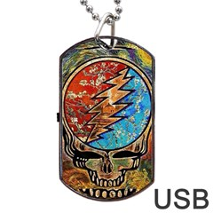 Grateful Dead Rock Band Dog Tag Usb Flash (two Sides)