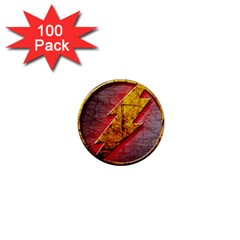 Grunge Flash Logo 1  Mini Buttons (100 Pack)