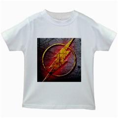Grunge Flash Logo Kids White T Shirts