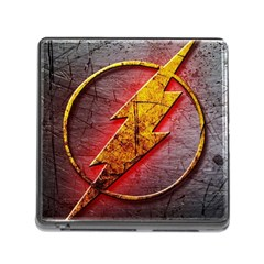 Grunge Flash Logo Memory Card Reader (square)