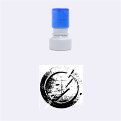 Grunge Flash Logo Rubber Round Stamps (small)