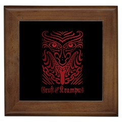 Gruss Vom Krampus Framed Tiles