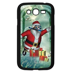Funny Santa Claus In The Underwater World Samsung Galaxy Grand Duos I9082 Case (black)