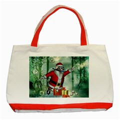 Funny Santa Claus In The Underwater World Classic Tote Bag (red)