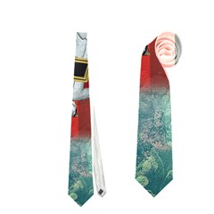 Funny Santa Claus In The Underwater World Neckties (two Side)