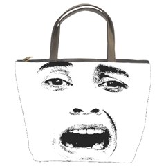 Scared Woman Expression Bucket Bags