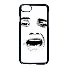 Scared Woman Expression Apple Iphone 7 Seamless Case (black)