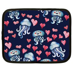 Jellyfish Love Netbook Case (Large)